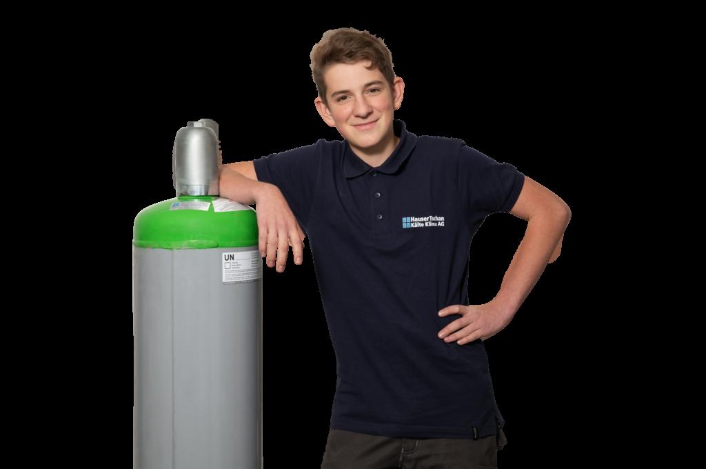 Lukas unser Lehrling Kältesystemmonteur EFZ
